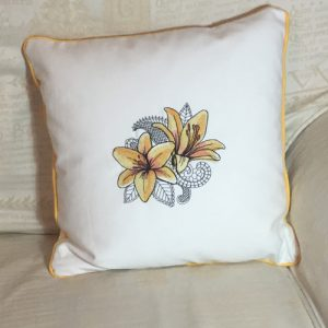 Cushion: Yellow Flower