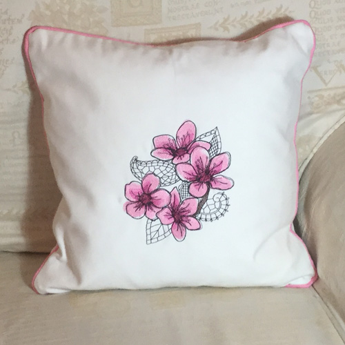 Cushion: Pink Flower